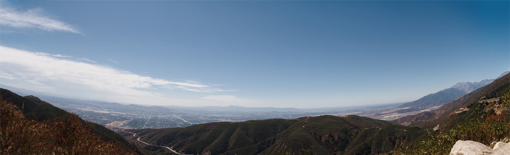 Riverside / San Bernadino Valley / Taken from near Crestline, California