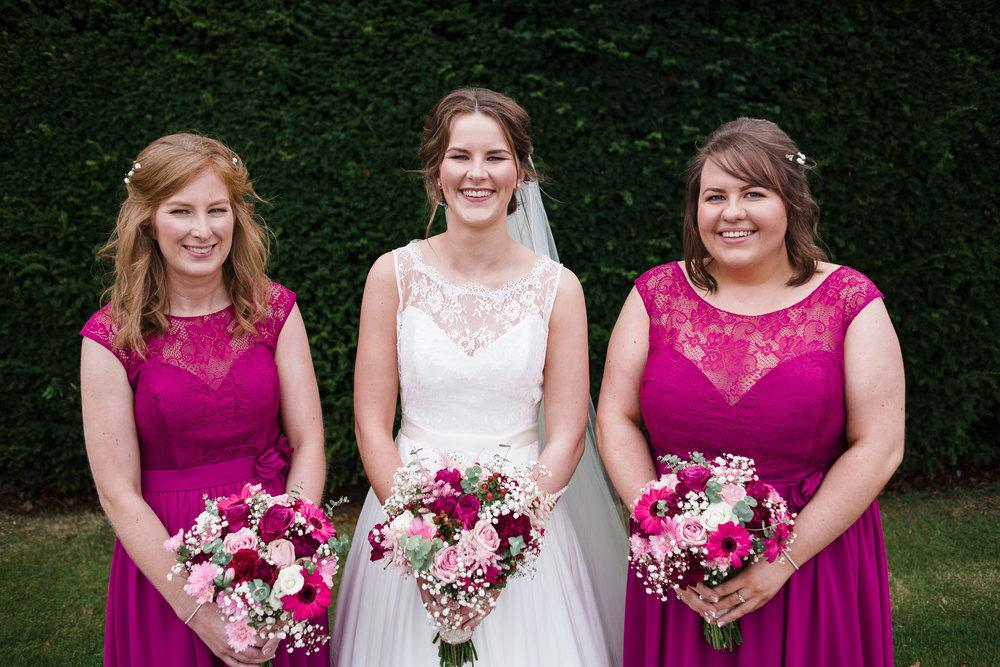 Bride and Bridesmaids, Antrim Castle Gardens, Northern Ireland