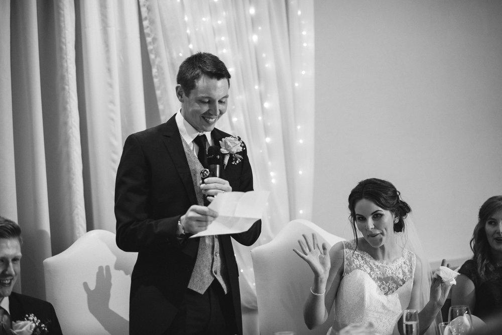 Groom introduces new wife during speech, Ross Park Hotel, Kells, Ballymena