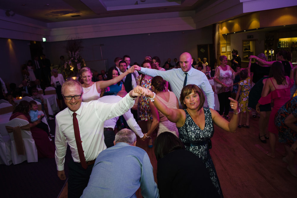 Guests dance at party, Ross Park Hotel, Kells, Ballymena