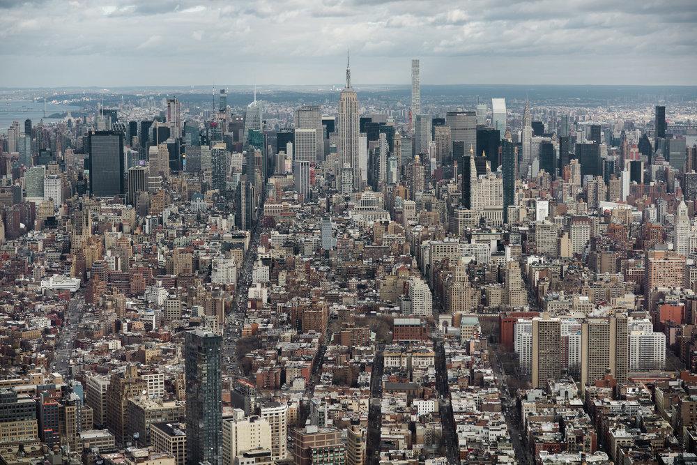 Midtown Manhattan, from One World Trade Centre, WTC, Lower Manhattan