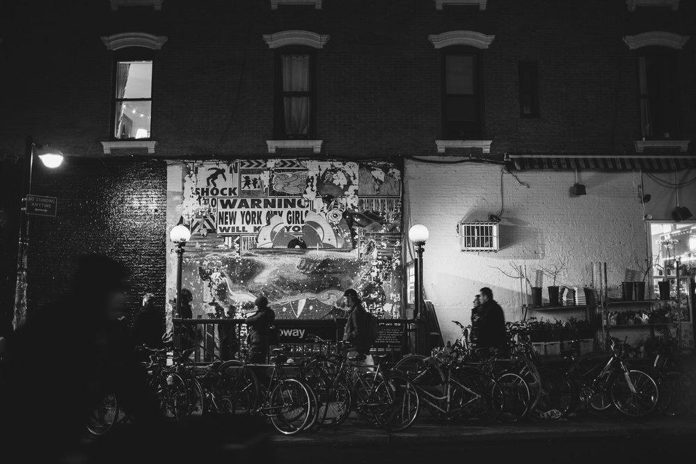 Brooklyn Subway, Greenpoint, NYC, Bicycles