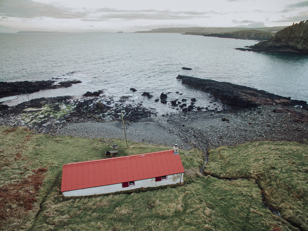 Port Moon Bothy, Dunseverick, County Antrim, Northern Ireland, Drone Photography, DJI Phantom 3
