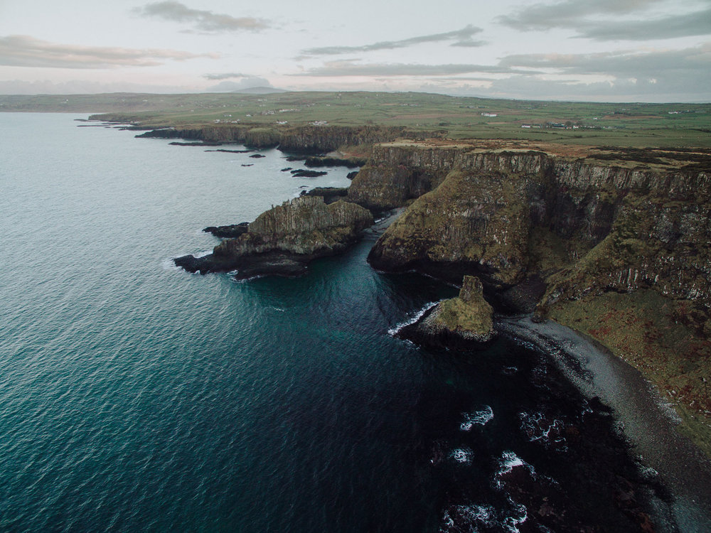 Port Moon, Dunseverick, County Antrim, Northern Ireland, Drone Photography, DJI Phantom 3
