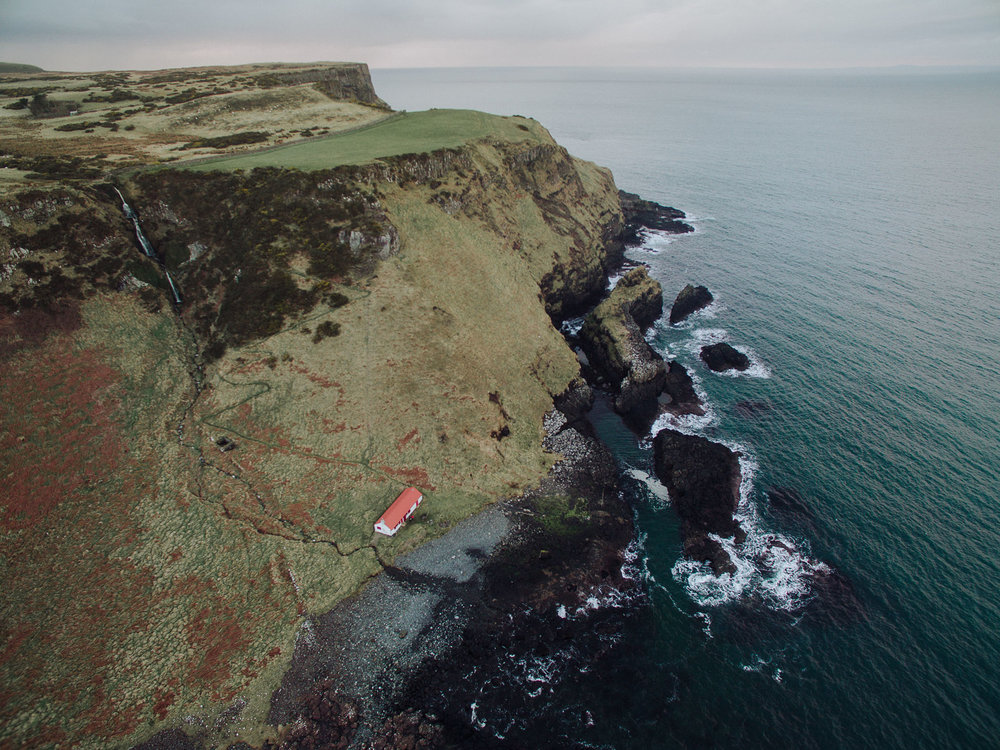 Port Moon Bothy, Dunseverick, County Antrim, Northern Ireland, Drone Photography, DJI Phantom 3