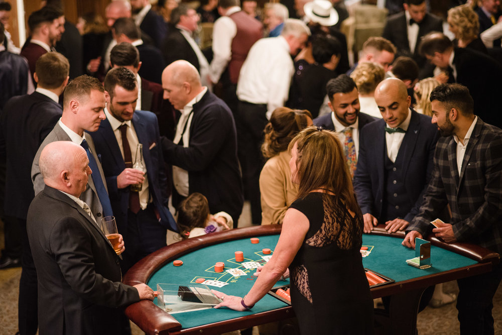 Casino Table, Blackjack, Wedding, Lough Erne Resort, County Fermanagh, Northern Ireland, New Years Eve, Great Gatsby, 1920's, 1920, 1920s, themed wedding