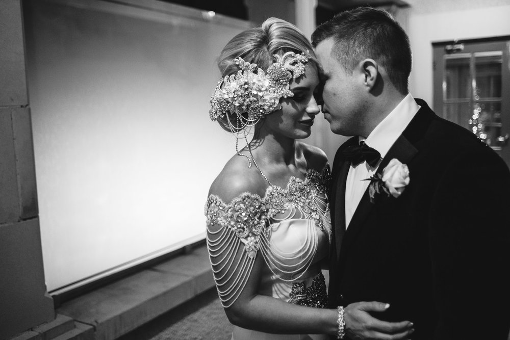 Bride and Groom, Wedding,,Lough Erne Resort, County Fermanagh, Northern Ireland, New Years Eve, Great Gatsby, 1920's, 1920, 1920s, themed wedding