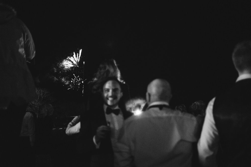 Weddings guests watch fireworks,Lough Erne Resort, County Fermanagh, Northern Ireland, New Years Eve, Great Gatsby, 1920's, 1920, 1920s, themed wedding