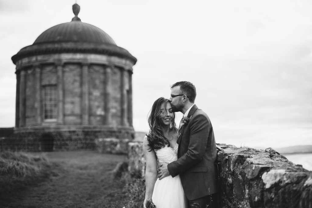 Picking a Wedding Venue - Adventurous bride and groom, Clifftop Wedding, Mussenden Temple, Northern Ireland