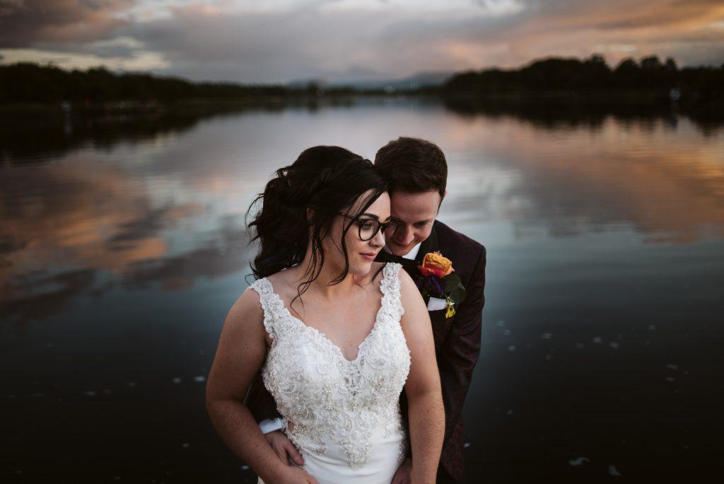 Lakeside Sunset, Wedding at Killyhevlin Hotel, Fermanagh, Northern Ireland
